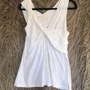 Deletta tank shirt sparkly white